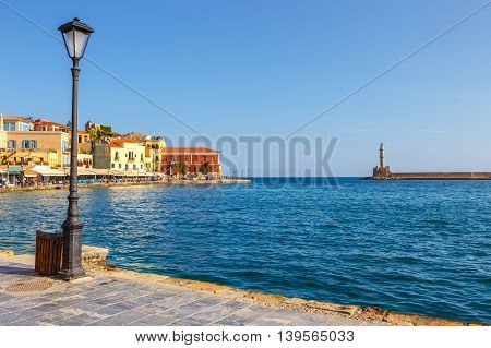 View Of The Old Harbor In Chania, Greece