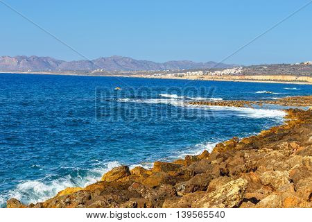 Coast Of Crete Island Near Chania In Greece