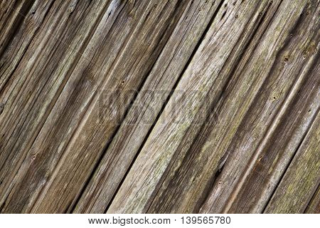 Close Up Of Diagonal Rustic Wooden Planks