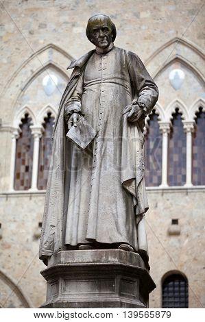 Piazza Salimbeni In Siena, Tuscany.