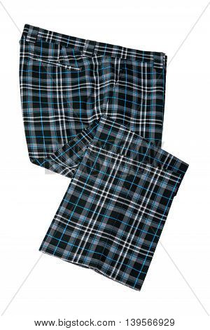 Scotland plaid pants trousers for man on white background