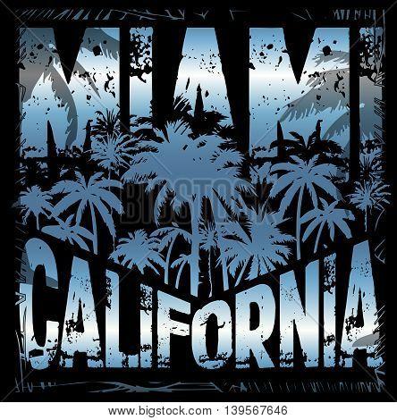 Summer tee graphic design miami california fashion