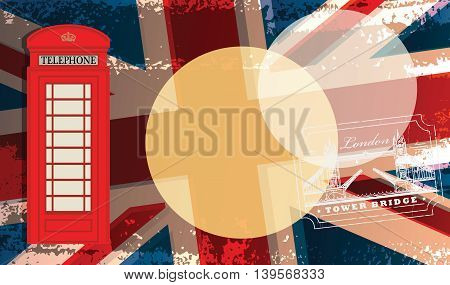 Abstract background with Phone booth, vector illustration