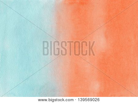 Abstract Orange And Blue Watercolor Background