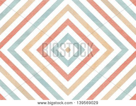 Geometrical Pattern In Pink, Beige And Blue Colors.