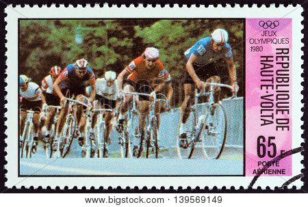 UPPER VOLTA - CIRCA 1980: A stamp printed in Upper Volta from the