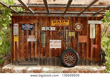 Museum of the Wild West in the Hole in the Rock. Utah, USA. May 15, 2016
