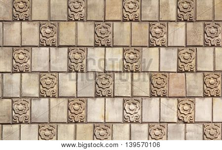 Finishing facade of the building in classical style. backgrounds
