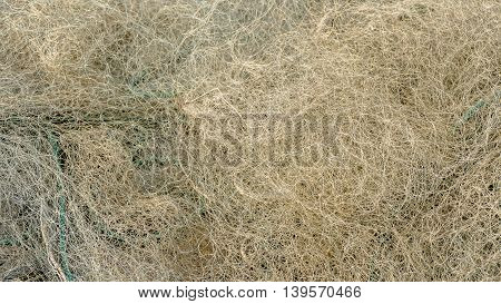 Old Fishing net in Dalmatia - texture background
