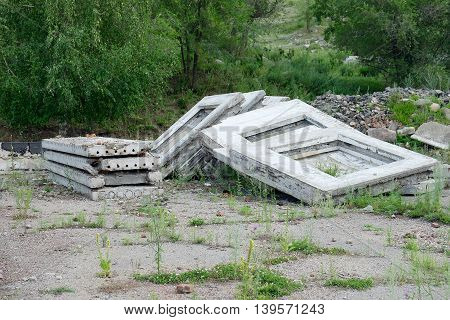 Stack Of Old Concrete Slabs