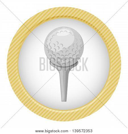 Golf ball icon. Vector illustration in cartoon style