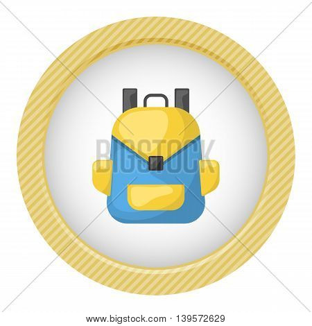 backpack icon. Vector illustration in cartoon style