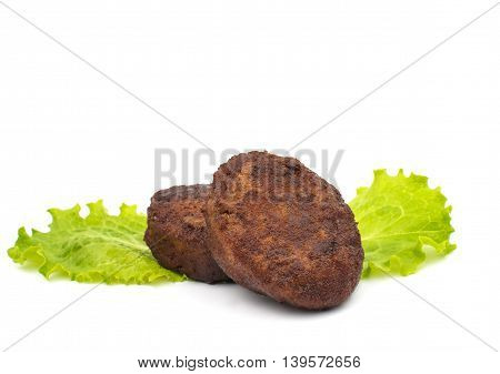 Fresh made Meatballs isolated on white background