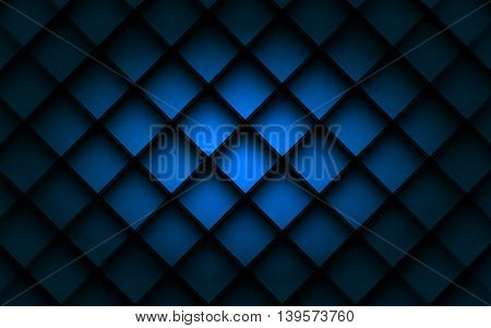 Blue square vector background box overlap layer angle with space shadow for text and message modern artwork design