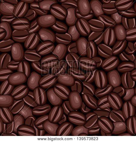 Seamless texture of coffee beans dark roast
