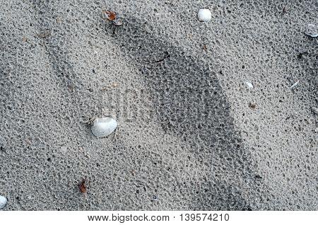 Closeup Of Sand Pattern