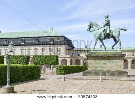 scenery around Amalienborg in Copenhagen the capital city of Denmark