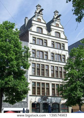 traditional building in Cologne a city in North Rhine-Westphalia in Germany