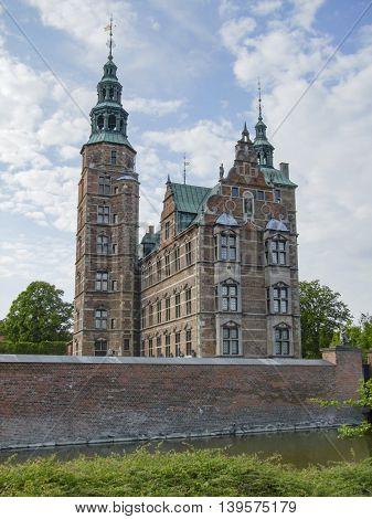 Rosenborg Castle in Copenhagen the capital city of Denmark