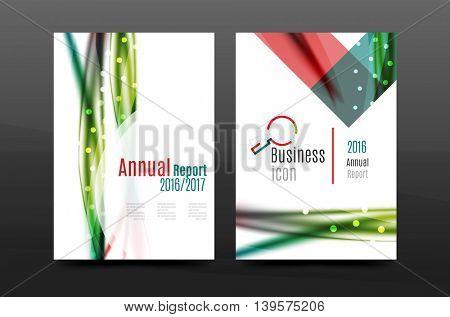 Swirl wave annual report for business correspondence letter. Flyer design. Vector illustration