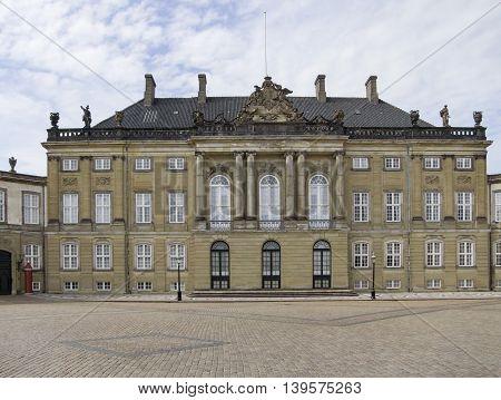 Amalienborg in Copenhagen the capital city of Denmark