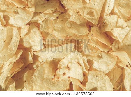 Potato Chips Crisps Vintage Desaturated