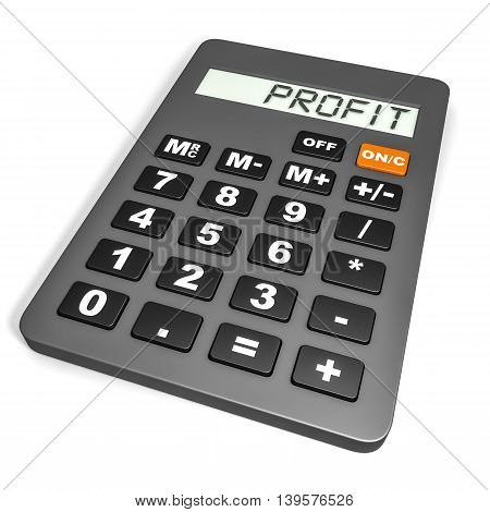 Calculator With Profit On Display.