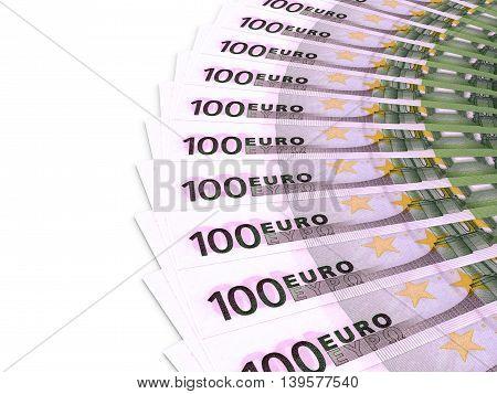 Money Fan. One Hundred Euros.
