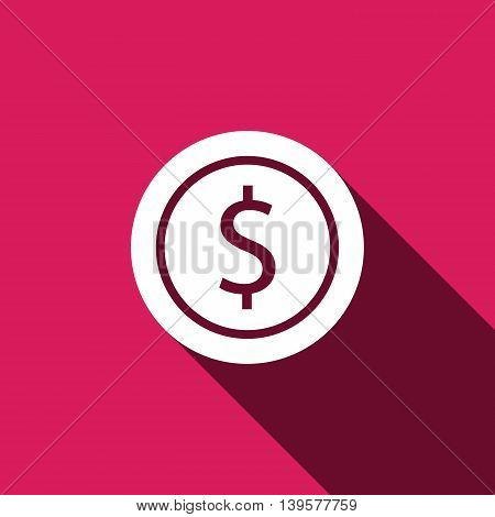 Dollars money coin icon. Coin vector illustration EPS 10