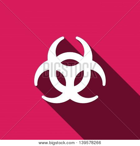 Biohazard sign icon. Danger symbol. Vector illustration EPS 10