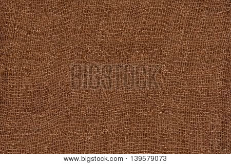 brown cotton Fabric texture and cotton background
