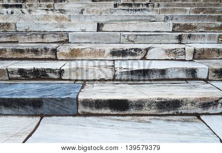classic natural marble steps of white marble