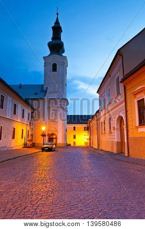 Architecture of the old town of Nitra.