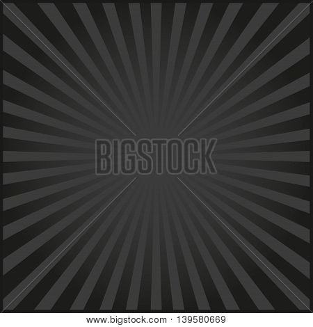 Black rays of vector carnival background. Vector illustration