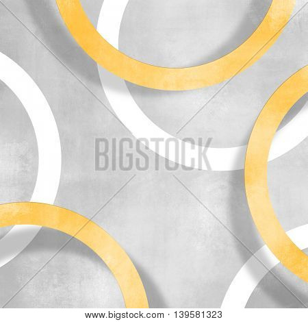 Yellow circle background against soft grey texture - abstract pattern