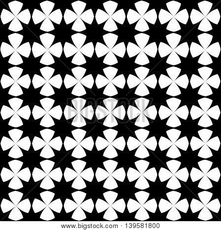 Ornamental black and white seamless pattern. Vector abstract background.Abstract texture