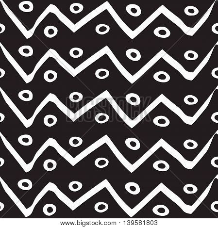 Vector seamless pattern. Modern stylish texture. Repeating geometric background with zigzag.