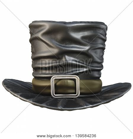 Black top hat. isolated on white background. 3D illustration.