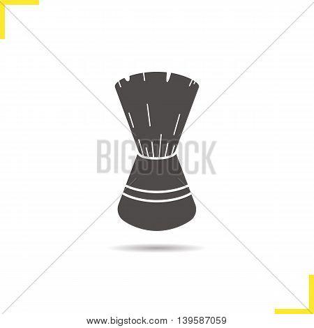 Shaving brush icon. Drop shadow silhouette symbol. Vector isolated illustration
