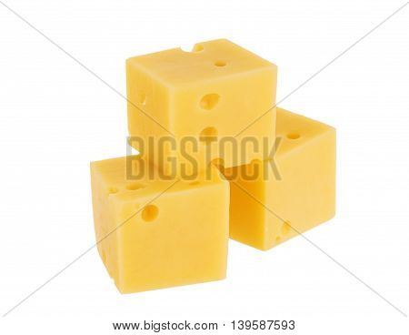Piece of cheese isolated on white background. With clipping path.