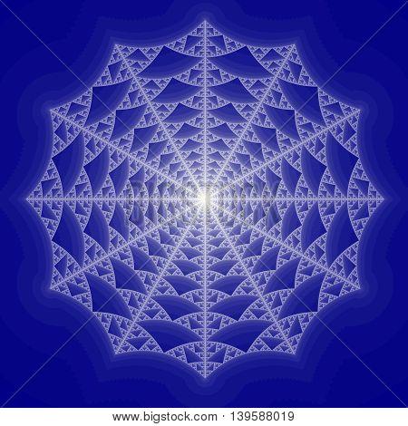 Blue Colored fractal pattern for background illustration