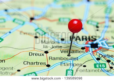 Rambouillet pinned on a map of France