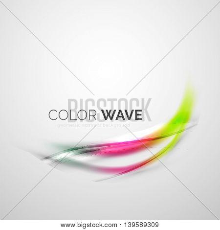 Elegant light smooth wave