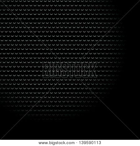 Carbon Fiber Industrial Background With Repeatable Geometry. Dark, Black Dotted Pattern. Punched, Pe