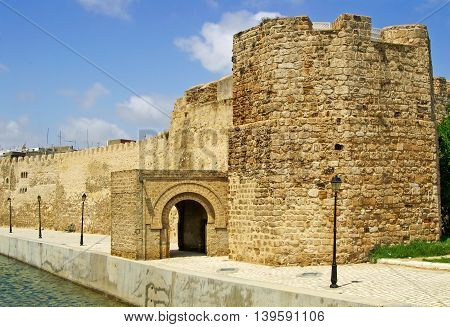 Nice view of fort of Bizerte in Tunisia
