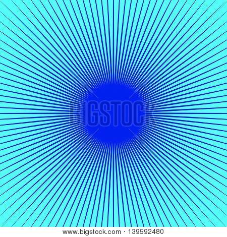 Simple Monochrome Starburst, Sunburst, Radial Lines Pattern.
