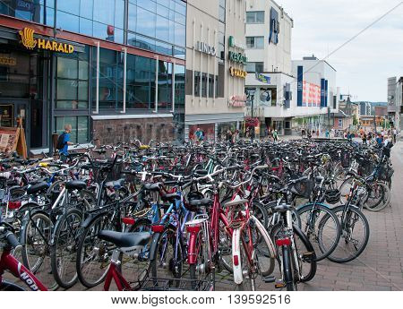 Bike Parking  In Jyvaskyla, Finland