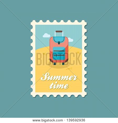 Baggage vector stamp. Travel. Summer. Summertime. Holiday. Vacation eps 10