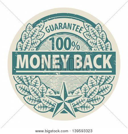 Grunge rubber stamp with the words Money Back written inside the stamp, vector illustration