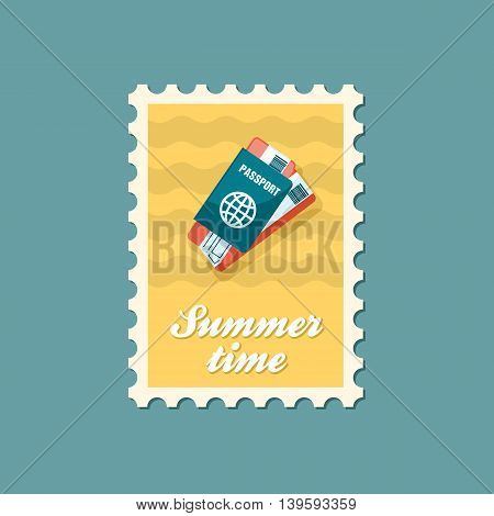 Passport with tickets vector stamp. Travel. Summer. Summertime. Holiday. Vacation eps 10